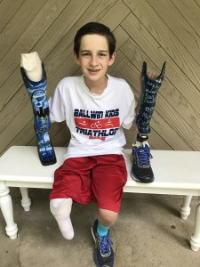 Local boy reaches new heights with custom blade leg